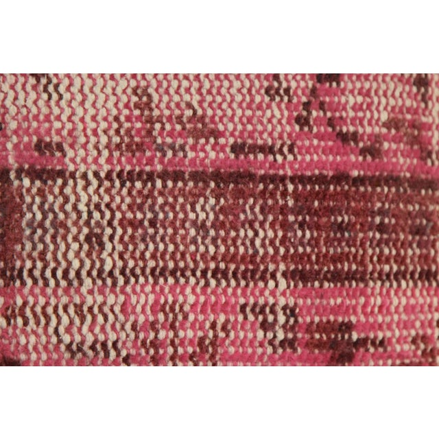 Boho Chic Pink Handmade Kilim Pillow Cover For Sale - Image 3 of 4