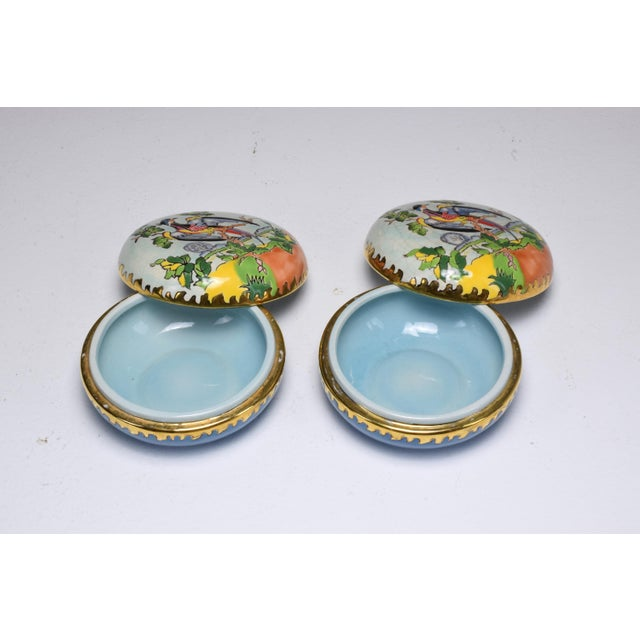 Ceramic Pair of 20th Century French Trinket or Jewelery Longwy Boxes For Sale - Image 7 of 13