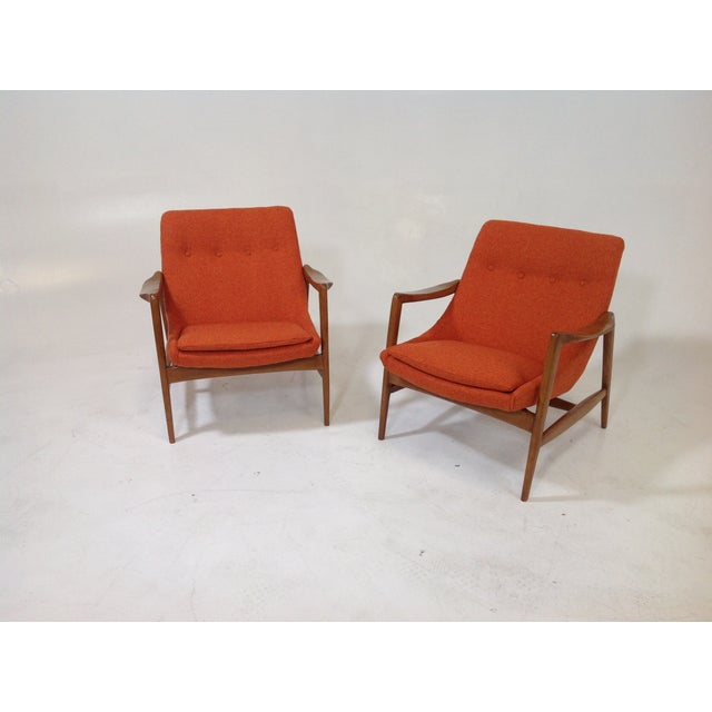 Danish Modern Mid Century Modern Lounge Chairs - 2 For Sale - Image 3 of 7