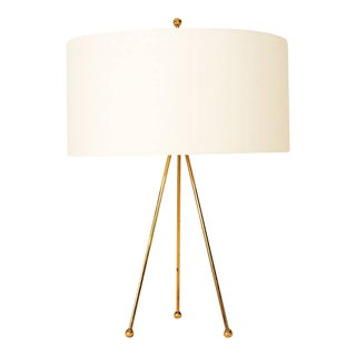 Mid Century Modern Brass Tripod Table Lamp by Robsjohn Gibbings For Sale