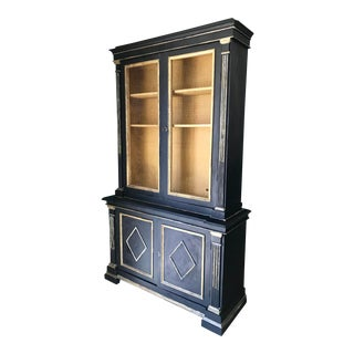 Italian Neoclassical Style Cabinet in Dusty Black For Sale