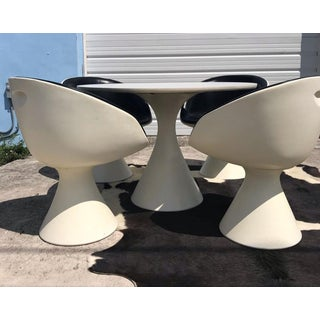 1960s Space Age Arkana 'Tulip' Dining Table & Four Chairs - 5 Pieces Preview