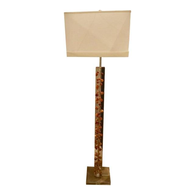Modern Acrylic Floor Lamp For Sale