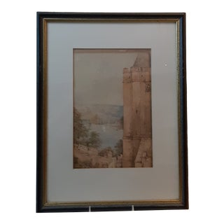 Late 19th Century English Landscape Watercolor Painting by Abraham Hulk the Younger, Framed For Sale