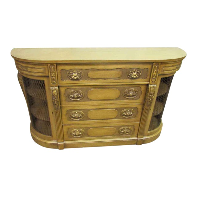 Antique Carved French Sideboard For Sale