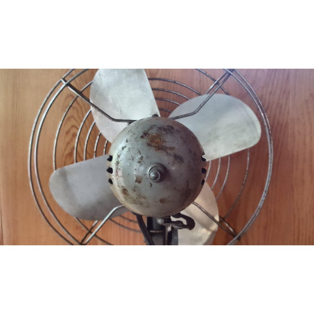 Iron Vintage Manning Bowman Industrial Fan For Sale - Image 7 of 8