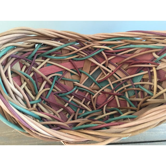Absolutely magnificent work of art Thick grapevine intertwined with split oak. Hand dyed and signed