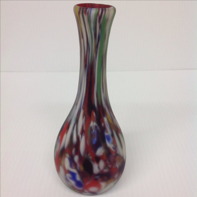 Mid-Century Modern Dino Martin Avem Murano Glass Tutti Frutti Vase For Sale - Image 3 of 6