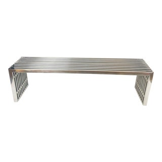 Mid-Century Chrome Bench by Milo Baughman For Sale