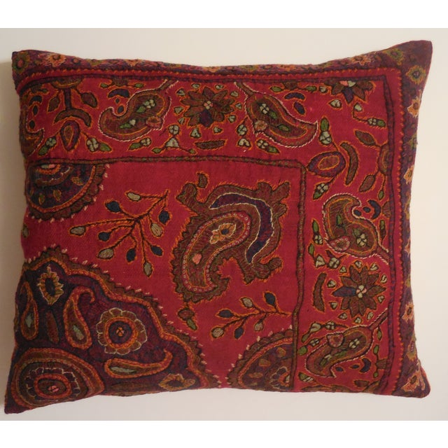 Hand Embroidery Antique Pillows - A Pair - Image 10 of 10