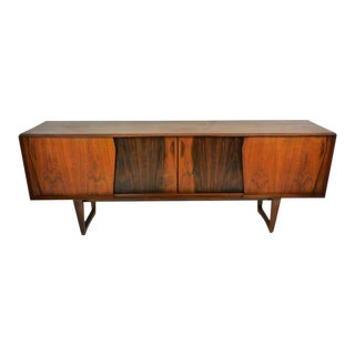 Exceptional Danish Rosewood Credenza For Sale