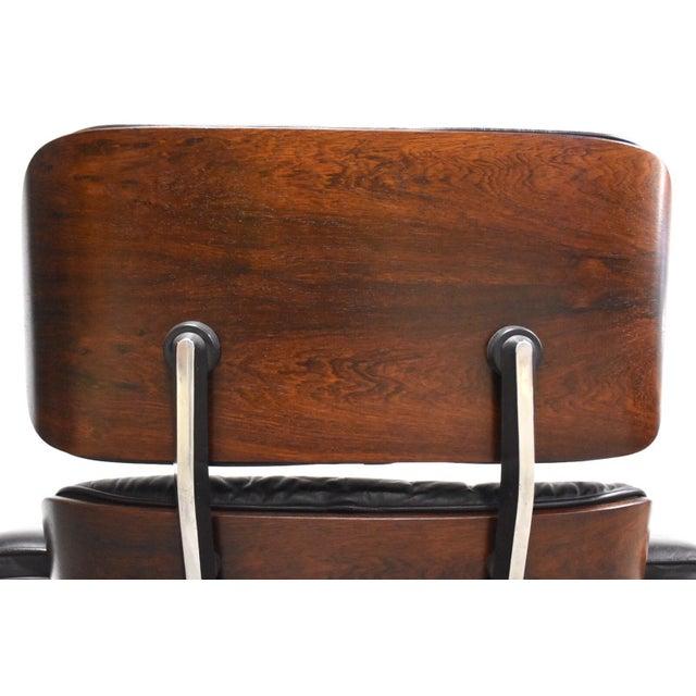 Black Original Herman Miller Eames Lounge Chair & Ottoman For Sale - Image 8 of 12