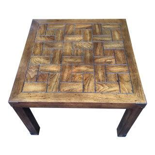 Vintage Henredon Parson's Style End Table For Sale