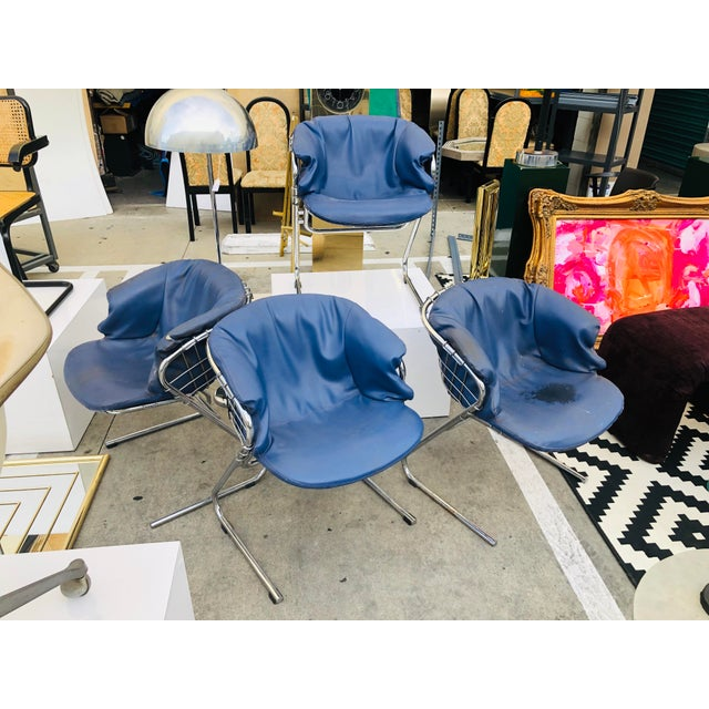 1960s Vintage Italian Gastone Rinaldi Chairs - Set of 4 For Sale - Image 12 of 13