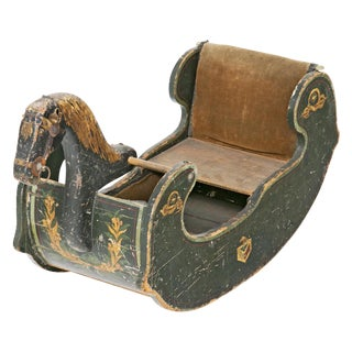 19th Century American Wooden Rocking Horse