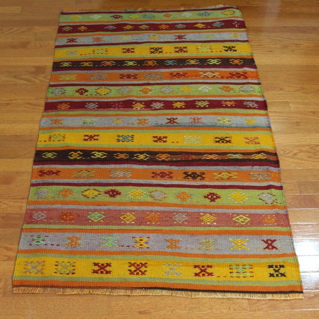 Turkish Handmade Anatolian Kilim Rug - 1′9″ × 3′5″ - Image 2 of 6