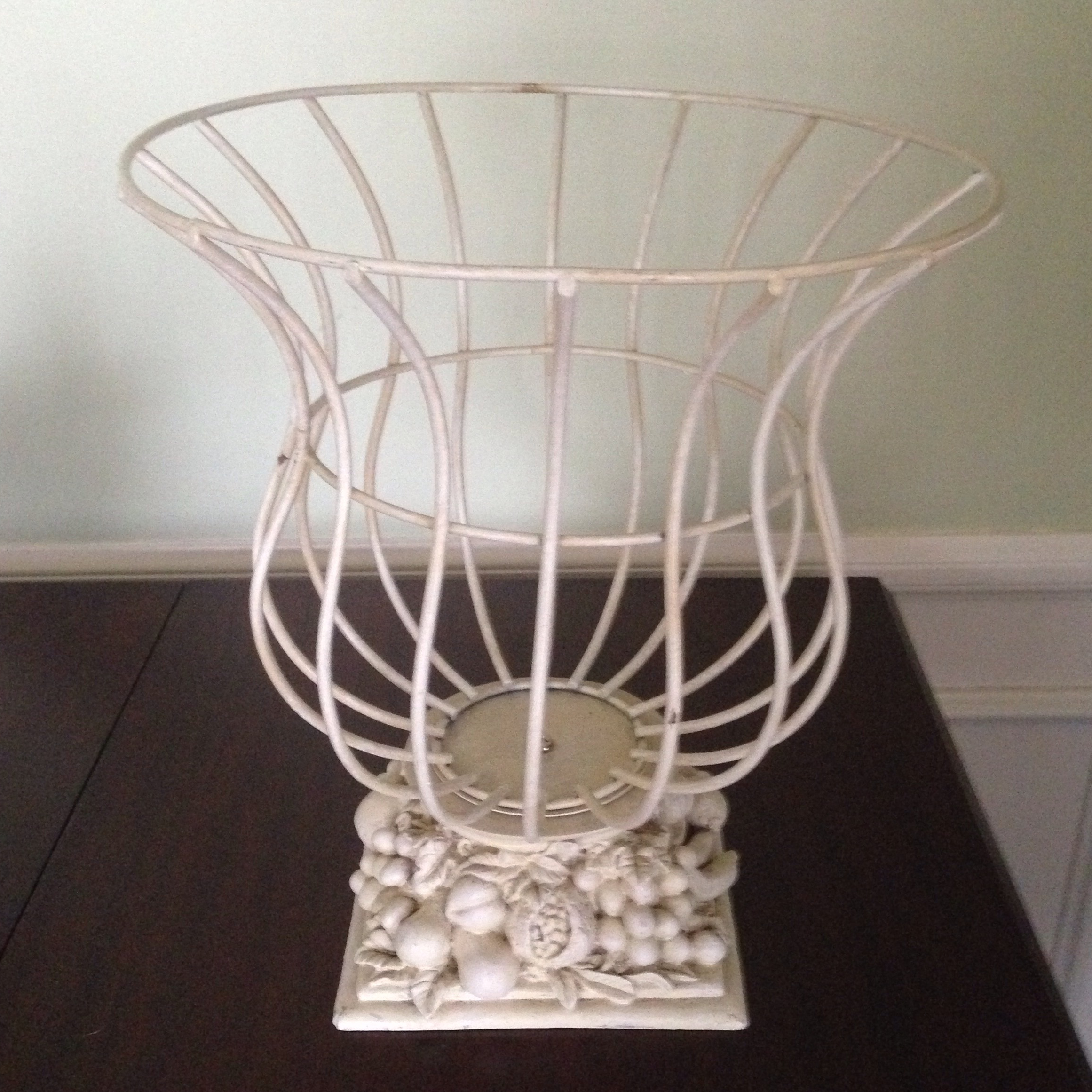 Vintage French Style Wire Garden Urn Planter For Sale   Image 10 Of 11
