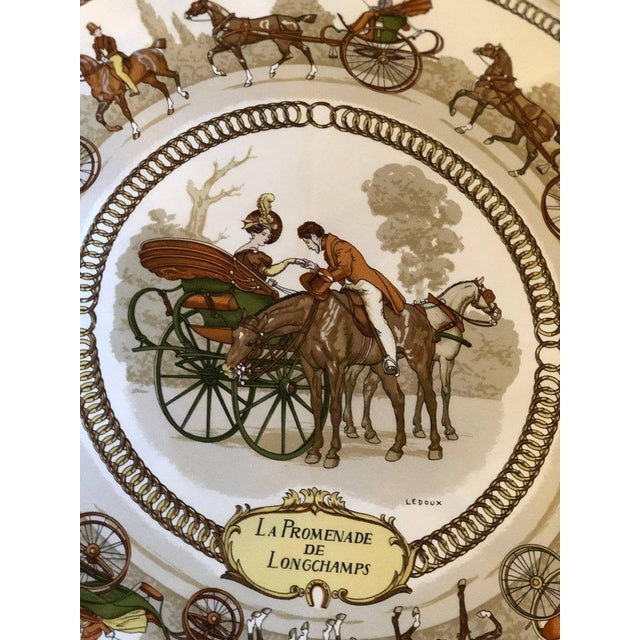 Enormous Hermes 'La Promenade De Longchamps' Overstuffed Silk Pillow For Sale - Image 9 of 11