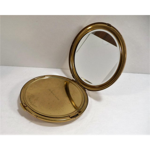 Mid-Century Asian Hollywood Glam Mirrored Compact - Image 4 of 7