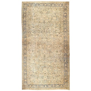 Oversized Antique Persian Khorassan Rug - 14′5″ × 28′ For Sale