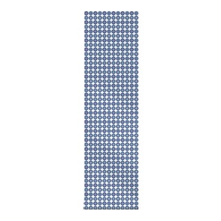"Flower Power - Blue 2"" Peel & Stick Fabric Wallpaper - 2'w X 10.5'l For Sale"
