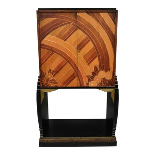 Art Deco Hand Painted Cabinet After Sonia Delaunay & Clarice Cliff For Sale