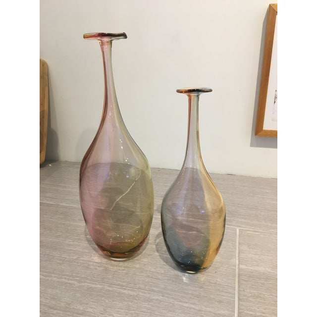 Glass Fidji Vases by Kjell Engman For Sale - Image 7 of 8