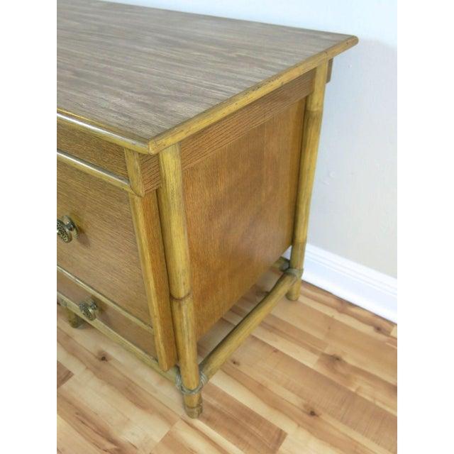 McGuire Bamboo Drop-Leaf Desk For Sale - Image 5 of 9