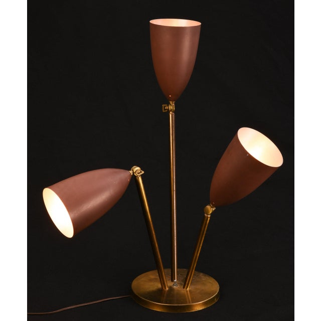 Mid-Century Modern Rare 1940's Greta Magnusson-Grossman Table Lamp With Adjustable Shades For Sale - Image 3 of 13