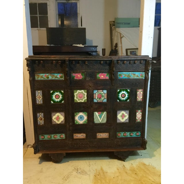 19th Century Asian Antique Tiled Front Dowery Chest For Sale In New York - Image 6 of 6