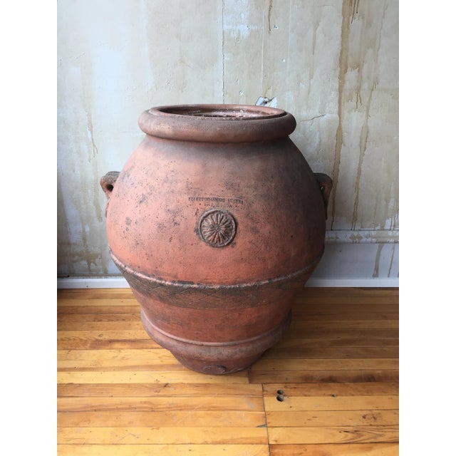Italian Antique Italian Terra Cotta Oil Pot For Sale - Image 3 of 8