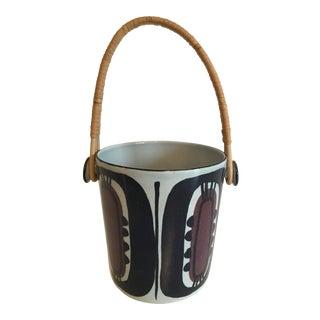 Vintage Danish Royal Copenhagen Fajance Ice Bucket by Inge-Lisse Koefoed For Sale