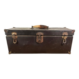 1940s Steel Tool Box With Removable Tray by the Sherman Klove Co. For Sale