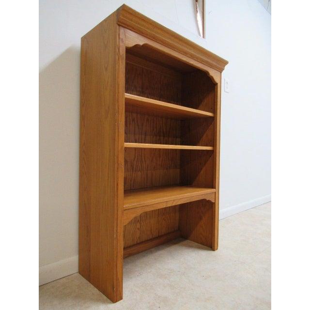 Ethan Allen Chippendale Canterbury Oak Dresser Hutch Top Shelf - Image 3 of 9