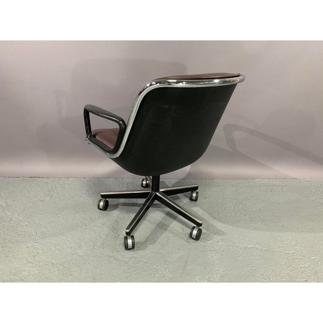Black Cordovan Leather Executive Chair by Charles Pollock for Knoll International For Sale - Image 8 of 10