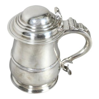 George II Sterling Tankard by R. Gurley, London For Sale