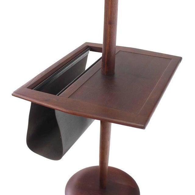 Danish Modern Oiled Teak Floor Lamp with Magazine Rack For Sale - Image 4 of 8