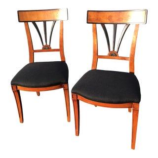 Vintage Biedermeier Style Side Chairs/Pair. For Sale