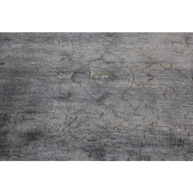Turkish Overdyed Oushak Rug - 4′ × 7′6″ For Sale In Los Angeles - Image 6 of 6