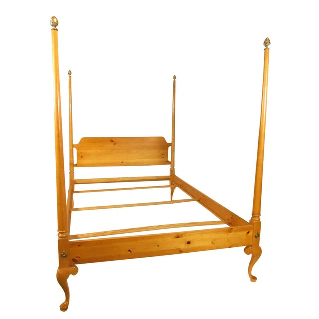 Metal 1980s Colonial Style Four Poster Bed For Sale - Image 7 of 7