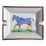 Image of 1970s Hermes Porcelain Equestrian Ashtray For Sale