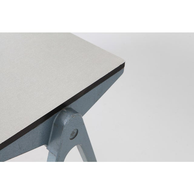 Aluminum Industrial Writing Desk Table With Chairs for Kids by James Leonard for Esavian For Sale - Image 7 of 13