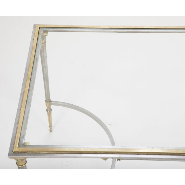 Maison Charles Steel & Bronze Glass Top Coffee Table For Sale - Image 10 of 13