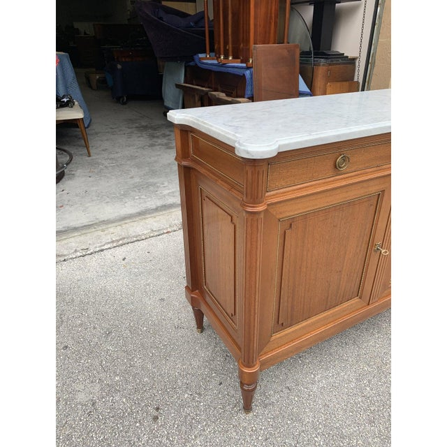 1910s French Louis XVI Antique Mahogany Sideboard or Buffet For Sale - Image 9 of 13