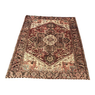 "1930's Vintage Persian Heriz Large Area Rug 9'2""x10'7"" For Sale"