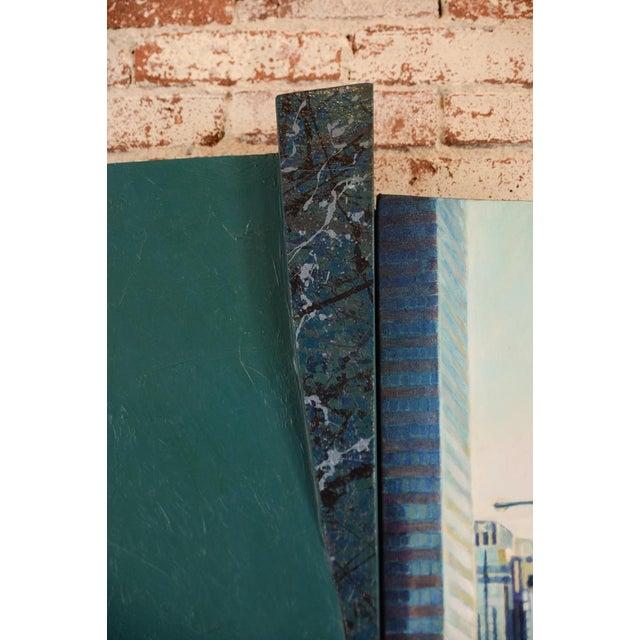 """Bonaventura Hotel Downtown LA"" Original Oil Painting by Steve Metzger For Sale - Image 4 of 9"