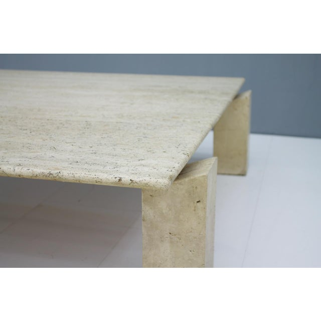 1960s Large Travertine Coffee Table 1960s For Sale - Image 5 of 10
