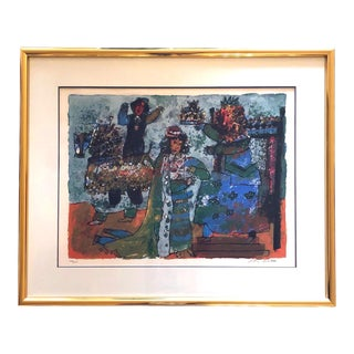 Theo Tobiasse Signed Numbered Lithograph Coronation 244/250 1980 For Sale