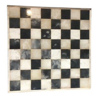 1960s Americana Alabaster and Marble Chess Board