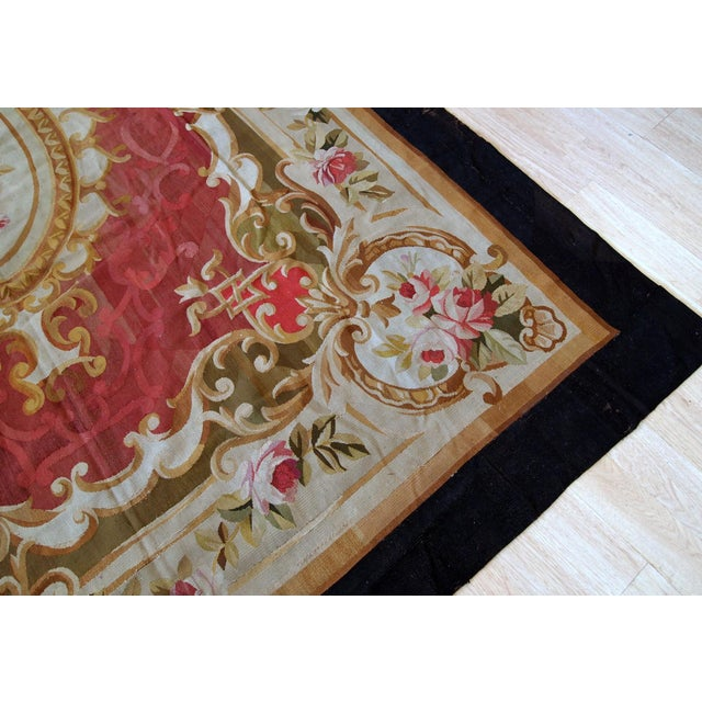 1860s, Handmade Antique French Abussan Flat-Weave For Sale - Image 9 of 12